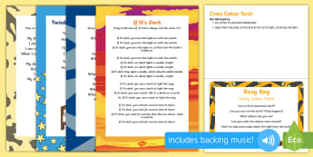 Crazy Colour Torch Busy Bag Prompt Card and Resource Pack - Light and Dark, colour, light, dark den, explore, science, investigation