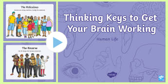 Human Life Thinking Keys PowerPoint - science, human life, thinking keys, thinkers keys, biology, critical thinking, questions, powerpoint