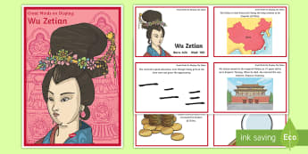 Wu Zetian Diverse Minds on Display Pack - China, Great minds, leader, Wu Zetian, China, Emperor