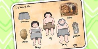 Word Mat to Support Teaching on Ug - ug, word mat, mat, vocabulary, story, story book