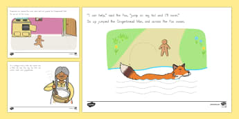 The Gingerbread Man Fine Motor Skills Story - Gingerbread Man, nursery rhymes, fine motor skills, pencil control - Gingerbread Man, nursery rhymes, fine motor skills, pencil control