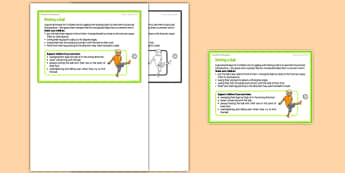 Foundation PE (Reception) Kicking a Ball Teacher Support Card - EYFS, PE, Physical Development, Planning
