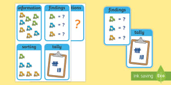 CfE Early Level Numeracy and Mathematics Data and Analysis Keyword Flashcards - Wall Display, keywords, MNU 0-20a, MNU 0-20b, MNU 0-20c, language of maths, vocabulary, word wall, S
