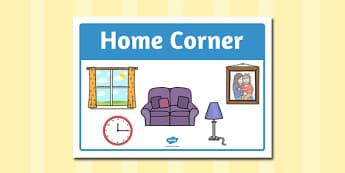 Home Corner Sign - home corder, sign, display, home, corner