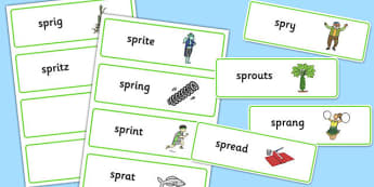 SPR Word Cards - sen, sound, spr sound, spr, word cards, word, cards