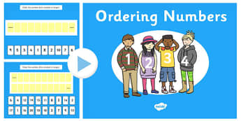 Compare And Order Numbers - order, number