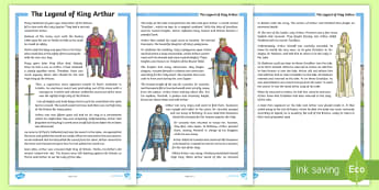 The Legend of King Arthur - King, Arthur, story, legend, Wales, knights, history,Welsh