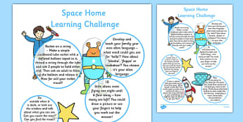 EYFS Space Home Learning Challenge Sheet Reception FS2 - astronaut, activity