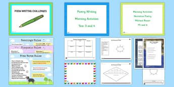 KS2 World Poetry Day Resource Pack - world poetry day, poems, imagery, poets, language features, famous poets