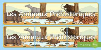 Bannière : Les animaux préhistoriques - préhistoire, prehistory, animaux préhistoriques, prehistoric beasts, mammouth, rhinocéros laineux