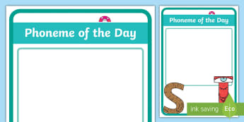 Phoneme of the Day Display Poster  - New Zealand Class Management, sounds, letters, sound of the week, phonics, phonics focus, phonics di