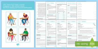 EDUQAS GCSE English Language Paper 2 Revision Booklet - English language GCSE Exam Papers, reading, writing, nineteenth century, twenty-first century, trans