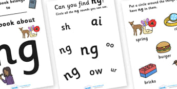 My Phase 3 Digraph Workbook (ng) - Digraph Formation, Phase 3, phase three, digraphs, handwriting, letter formation, writing practice, foundation, letters, writing, learning to write, DFES letters and sounds