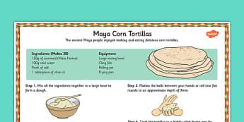 Maya Tortilla Recipe - maya, tortilla, recipe, mayan, history, food