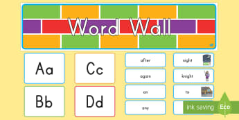 1st Grade Word Wall  - US Requests, word wall, sight words, homophones, classroom display, Dolch, 1st Grade, Grade 1, CCSS.