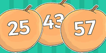 Numbers 0-120 on Giant Peach to Support Teaching on James and the Giant Peach - giant, peach, numbers, 0-120