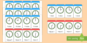 Mots illustrés (flashcards) : What's the Time, Mr. Wolf ? (L'heure) - Anglais LV