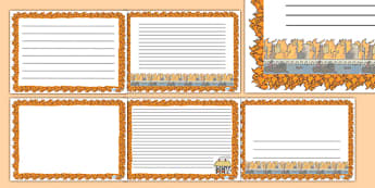 The Great Fire of London Page Borders (Landscape) - page border, border, frame, writing frame, great fire of london, fire of london, fire of london writing frames, landscape writing frames, landscape, writing template, writing aid, writing, A4 page,