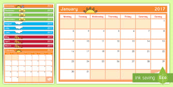 New Zealand School Year Calendar 2017 - New Zealand Class Management, calendar, year, new year, new term, nz