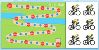 Tour de France Reward Chart - le tour, geography, award, reward