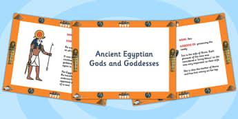 Egyptian Gods PowerPoint - egyptian gods, egypt, ancient egypt, ancient egypt powerpoint, egyptian gods information powerpoint, gods and goddesses, history