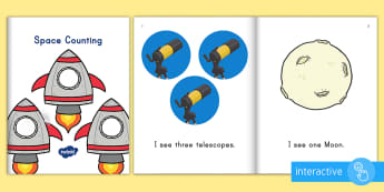 Space Counting eBook - space, solar system, galaxy, outer space, space ebook, solar system ebook, outer space ebook, pre-K