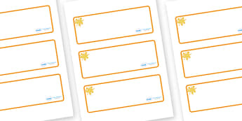 Amber Themed Editable Drawer-Peg-Name Labels (Blank) - Themed Classroom Label Templates, Resource Labels, Name Labels, Editable Labels, Drawer Labels, Coat Peg Labels, Peg Label, KS1 Labels, Foundation Labels, Foundation Stage Labels, Teaching Labels