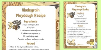 Wholegrain Playdough Recipe - wholegrain, playdough, recipe