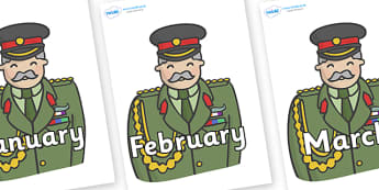 Months of the Year on Sargeants - Months of the Year, Months poster, Months display, display, poster, frieze, Months, month, January, February, March, April, May, June, July, August, September