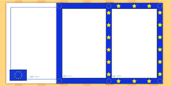 European Elections Page Borders - writing aid, europe, election
