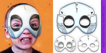 3D Halloween Ghost Monster Mask - 3d, halloween, ghost, monster, mask