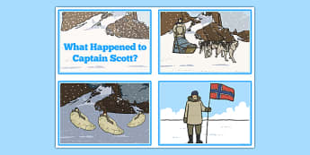 Scott of the Antarctic Sequencing Cards - history, significant, individuals, antarctica, south, pole, primary, nature, geography, maps, visual, aid, story, order