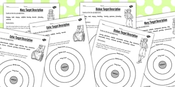 The Secret Garden Target Description Differentiated Worksheets