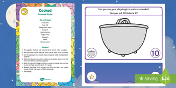Number Playdough Recipe and Mat Pack - Whatever Next, Jill Murphy, space, even numbers, play dough, play doh, numeracy
