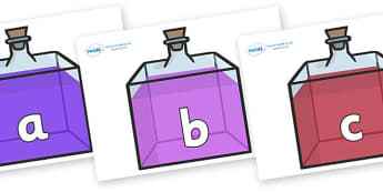 Phase 2 Phonemes on Perfume Bottles - Phonemes, phoneme, Phase 2, Phase two, Foundation, Literacy, Letters and Sounds, DfES, display