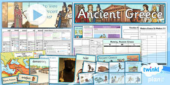 PlanIt - History UKS2 - Ancient Greece Unit Pack Notebook