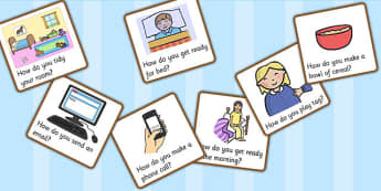 How Question Cards - question words, question cards, questions