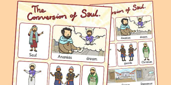 The Conversion of Saul Vocabulary Poster - posters, displays