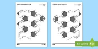 3D Football Net Template Paper Craft - football, craft, paper craft, simple, fun, origami, folding, cutting, 3D