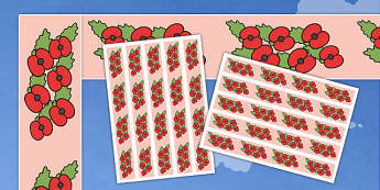 Remembrance Day Display Borders - Display border, classroom border, border, display, Remembrance Day, war, battle, world war, poppy, cross, army, fight, 11 November, Remembrance Sunday, heroes