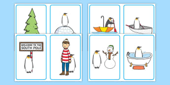 Where Is the Penguin? Positional Language Picture Cards - EYFS, KS1, Lost and Found, Oliver Jeffers, Penguin Small, Mick Inkpen, polar regions, Maths, positio