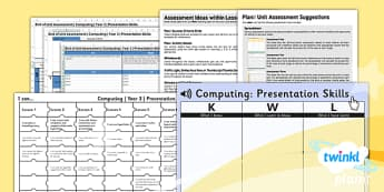 PlanIt - Computing Year 3 - Presentation Skills Unit Assessment Pack - planit, computing, year 3, presentation skills, unit, assessment pack