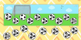 Missing Number Football Strip Number Line 0 10 - count, counting