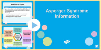 Asperger Syndrome Mind Map PowerPoint - Aspergers, ASD, ASC, high functioning autism, AS