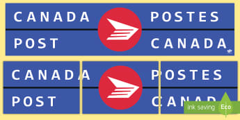 Canadian Post Office Role Play Sign - canada, canadian, post office, post, office, role play, roleplay, sign, display sign, display