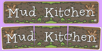 Mud Kitchen Display Banner - mud, kitchen, display banner, banner
