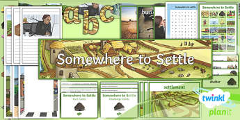 PlanIt - Geography Year 4 - Somewhere to Settle Additional Resources - geography, settlement, settlers, land use