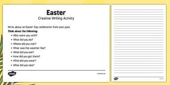 Elderly Care Easter Creative Writing Activity - Elderly, Reminiscence, Care Homes, Mother's Day, activity, memory
