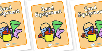 Sand Equipment Label - sand, equipment, sign, label, playground, paster, school