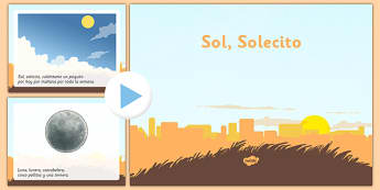 Canción Sol Solecito Powerpoint - spanish, song, canci